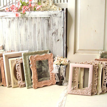 Blush Wedding Table Frames Ornate Cream Light Mint Picture