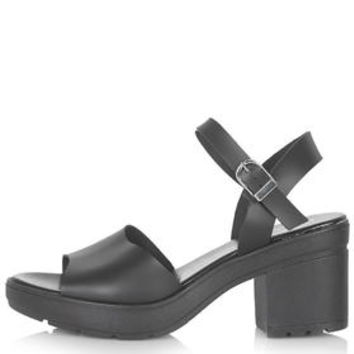 HET Cleated Two Part Sandals - Black