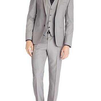 'Arnot/Wenton/Hamen' | Slim Fit, Super 120 Italian Virgin Wool 3-Piece Suit by HUGO