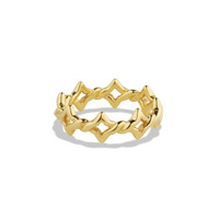 Venetian Quatrefoil Stacking Ring in Gold - David Yurman