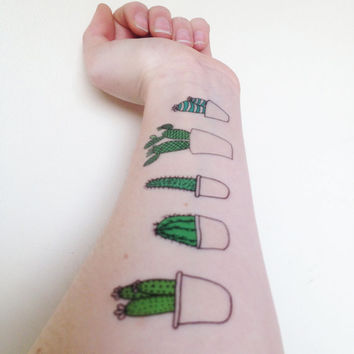 Cute Cactus Temporary Tattoos!