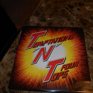 Vinyl Record -Temptations, The & Four Tops  - TNT - Vintage Vinyl Record 1986 - 3 Records