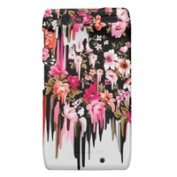 Change of Heart, melting floral pattern Droid RAZR Cases