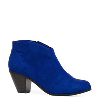 Roundup Sally Suede Booties - Blue