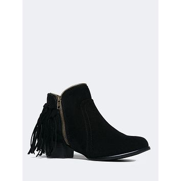 Bailey Fringe Zipper Bootie