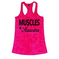 She Squats Clothing Muscles Mascara Burnout Gym Tank Top