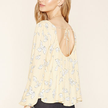 Contemporary Feather Print Top
