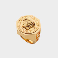 Versace Greca and Medusa Ring for Men | US Online Store