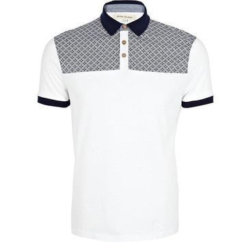 Navy Two-Tone Polo Shirt