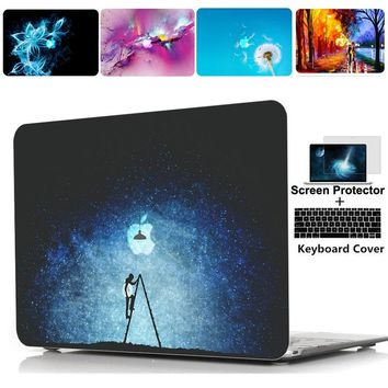 Rubberized Hard Case Shell Keyboard Cover Skin For Apple Macbook pro 13 15 Air 11 13 inch touch bar Retina 12 inch laptop case