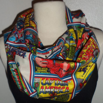 Marvel Captain America Comic Book Cover Circle Infinity Scarf