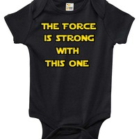 Baby Bodysuit - Star Wars The Force Is Strong With This One