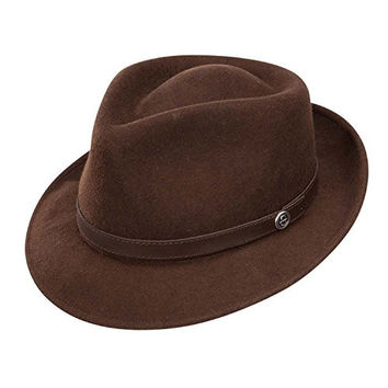 Stetson TWPROF-1020 Mens Prof Fedora, Brown - S
