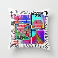 Rainbow 19 Throw Pillow by Zia
