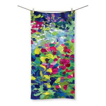 Lilypad Oil Painting Beach Towel