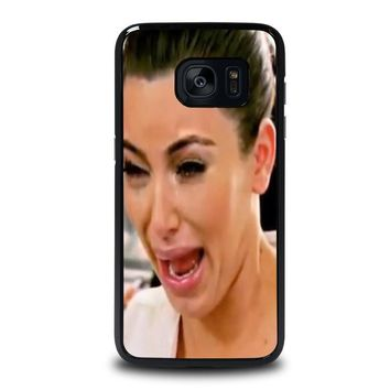 kim kardashian ugly crying face samsung galaxy s7 edge case cover  number 1