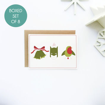 Jingle Bells, Batman Smells Funny Holiday Greeting Card Set