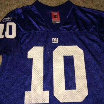 VLX9RV Sale!! Vintage Reebok NEW YORK GIANTS Football Jersey NfL youth shirt #10 Manning