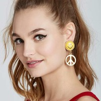 Vintage Moschino Peace Earrings