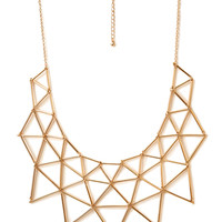 Angular Geo Bib Necklace