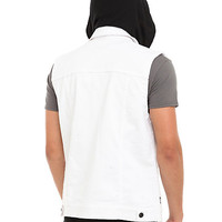 RUDE White Denim Hooded Vest