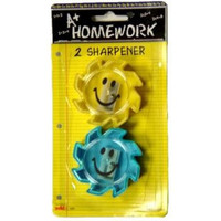 2 PACK SMILEY FACE SHARPENERS