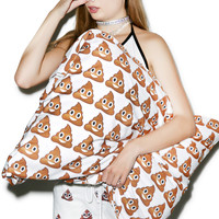 Rage On Poop Emoji Pillowcase White One