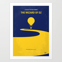 No177 My Wizard of Oz minimal movie poster Art Print by Chungkong