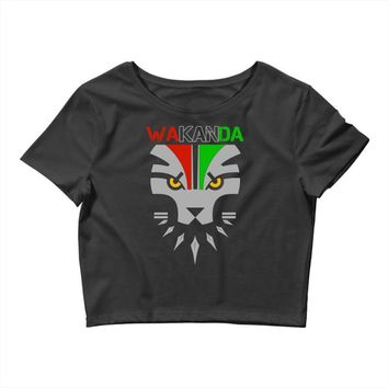 redesignsideas for the flag of wakanda Crop Top