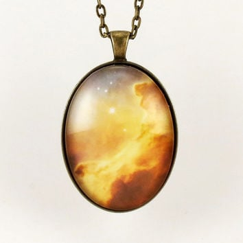 Galaxy Pendant Universe Nebula Necklace Cosmic by cellsdividing