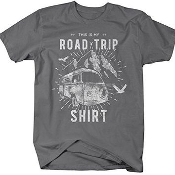 Men's Hipster Road Trip T-Shirt Mountains Adventure Camping Shirt