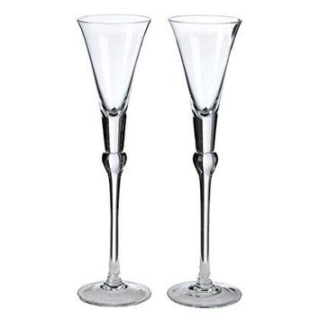 Lillian Rose Simple Glass Wedding Toasting Flutes Table Decor