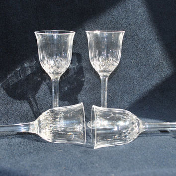 Vintage Sherry Glasses  Crystal d'Arques France Cordial or Shooter Glasses