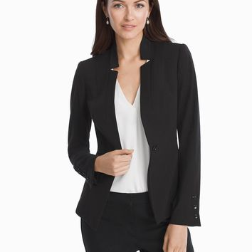White House Black Market Seasonless Black Blazer Jacket