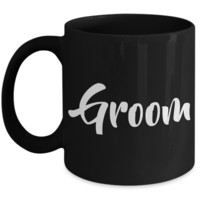 Groom Coffee Mug - Wedding Mugs - Wedding Gift - Black Coffee Mug