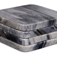 Gray Marble Square Coasters, Set of 4, Coasters
