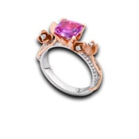 Tryst Pink Sapphire Tulip Ring
