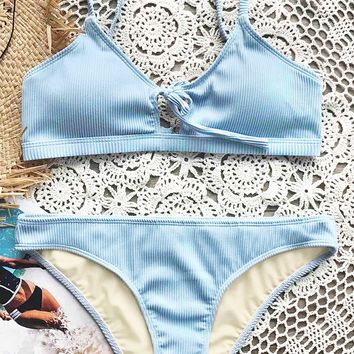 Cupshe Fluffy Cloud Tie Bikini Set