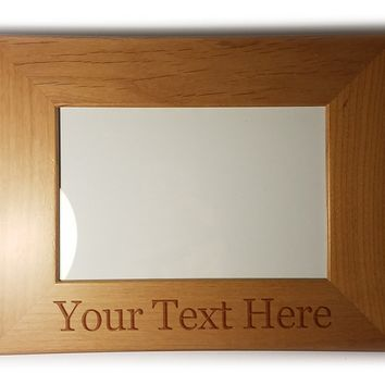Customized 3D Laser Engraved Personalized Wooden Custom Picture Frame (5x7)