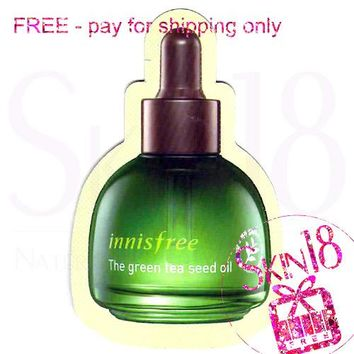 Freebies - Innisfree The Green Tea Seed Oil (Sample Pack)  *exp.date 05/19