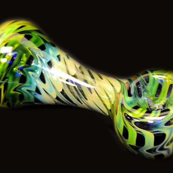 """Glass Pipe, 4"""" long, 24k gold and Silver Fumed"""