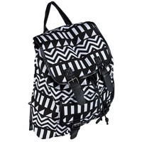 Black & White Aztec Canvas Fashion Backpack | Shop Hobby Lobby