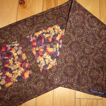 Autumn Leaves Quilted Table Runner Fall Decor