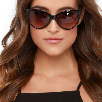 Quay I Love Lucy Black Sunglasses