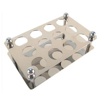 Stainless Steel Bullet Wine Glasses Holder Cup Stand 12 Hole (hole diameter 2.8c