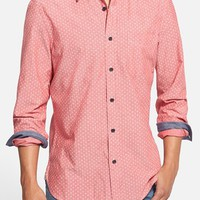 Men's Wallin & Bros. 'Signature' Trim Fit Print Chambray Sport Shirt,