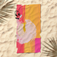Vibrant Abstract Beach Towel by mirimo