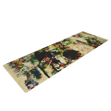 "Frederic Levy-Hadida ""Floral Skully"" Yoga Mat"