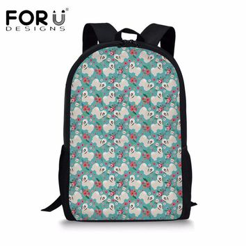 Boys bookbag trendy FORUDESIGNS Cute Havanese Floral School Bags Quarter Horse Flower Shoulder  Bagpack Students Girls Boys Casual Backpack AT_51_3
