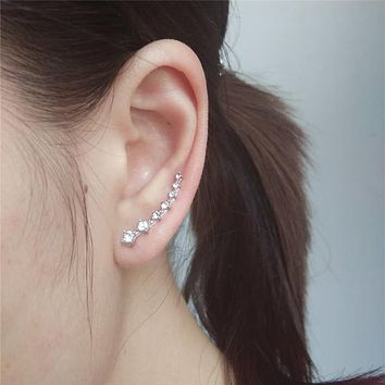 Crystal Cuff Sweep Wrap Rhinestone Ear Climber